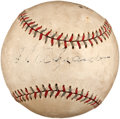 Autographs:Baseballs, 1930's Grover Cleveland Alexander Single Signed Baseball. ...