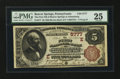 National Bank Notes:Pennsylvania, Adamsburg, PA - $5 1882 Brown Back Fr. 477 The First NB of BeaverSprings at Adamsburg Ch. # (E)5777. ...