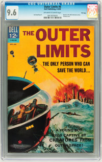 Outer Limits #6 File Copy (Dell, 1965) CGC NM+ 9.6 Off-white to white pages