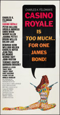 "Movie Posters:James Bond, Casino Royale (Columbia, 1967). Three Sheet (41"" X 81""). James Bond.. ..."