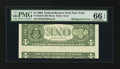 Error Notes:Inverted Reverses, Fr. 1928-B $1 2003 Inverted Reverse Federal Reserve Note. PMG GemUncirculated 66 EPQ.. ...