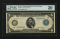 Large Size:Federal Reserve Note, Fr. 870* $5 1914 Federal Reserve Note PMG Very Fine 20.. ...
