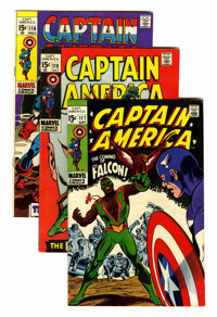 Captain America Group (Marvel, 1969-77) Condition: Average FN.... (Total: 87 Comic Books)