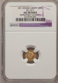 California Fractional Gold, 1871 G50C Liberty Round 50 Cents, BG-1011, R.2,--ImproperlyCleaned--NGC Details. AU. NGC Census: (0/54). PCGS Population (...