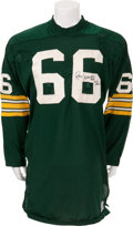 Football Collectibles:Uniforms, 1970 Ray Nitschke Game Worn, Signed Green Bay Packers Jersey. ...