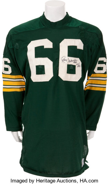 pretty nice eb5a4 d3e93 1970 Ray Nitschke Game Worn, Signed Green Bay Packers Jersey ...