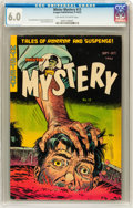 Golden Age (1938-1955):Horror, Mister Mystery #13 (Aragon, 1953) CGC FN 6.0 Off-white to whitepages....