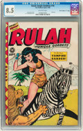 """Golden Age (1938-1955):Adventure, Rulah Jungle Goddess #18 Davis Crippen (""""D"""" Copy) pedigree (Fox Features Syndicate, 1948) CGC VF+ 8.5 Off-white pages...."""