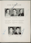 Football Collectibles:Publications, 1941 Vince Lombardi Signed St. Cecilia High School Yearbook. ...