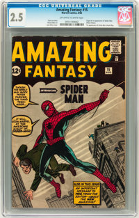Amazing Fantasy #15 (Marvel, 1962) CGC GD+ 2.5 Off-white to white pages