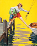 Mainstream Illustration, ARTHUR SARON SARNOFF (American, 1912-2000). The Predicament,Coronet magazine cover, August 1955. Gouache on board. 20 x...