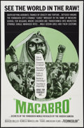 "Movie Posters:Documentary, Macabro (Trans American, 1966). One Sheet (27"" X 41""). Documentary.. ..."