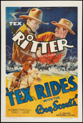 """Movie Posters:Western, Tex Rides with the Boy Scouts (Grand National, 1938). One Sheet (27"""" X 41""""). Western.. ..."""