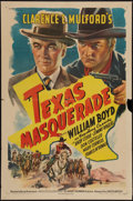 """Movie Posters:Western, Texas Masquerade (United Artists, 1944). One Sheet (27"""" X 41""""). Western.. ..."""