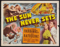 "Movie Posters:Adventure, The Sun Never Sets (Realart, R-1949). Half Sheet (22"" X 28"").Adventure.. ..."