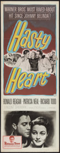 "Movie Posters:War, Hasty Heart (Warner Brothers, 1950). Insert (14"" X 36""). War.. ..."