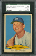 Baseball Cards:Singles (1950-1959), 1954 Red Heart Mickey Mantle SGC 92 NM/MT+ 8.5....