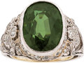 Estate Jewelry:Rings, Alexandrite, Diamond, Platinum Ring. ...