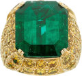 Estate Jewelry:Rings, Emerald, Colored Diamond, Gold Ring, Pacetti. ...
