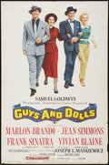 """Movie Posters:Musical, Guys and Dolls (MGM, 1955). One Sheet (27.5"""" X 42""""). Musical.. ..."""