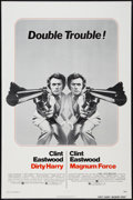 """Movie Posters:Crime, Dirty Harry/Magnum Force Combo (Warner Brothers, R-1975). One Sheet(27"""" X 41""""). Crime.. ..."""