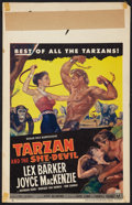 "Movie Posters:Adventure, Tarzan and the She-Devil Lot (RKO, 1953). Window Cards (2) (14"" X22"" and 14"" X 17""). Adventure.. ... (Total: 2 Items)"