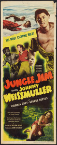 "Movie Posters:Adventure, Jungle Jim (Columbia, 1948). Insert (14"" X 36""). Adventure.. ..."