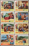 """Movie Posters:Historical Drama, Sins of Jezebel (Lippert, 1953). Lobby Card Set of 8 (11"""" X 14"""").Historical Drama.. ... (Total: 8 Items)"""