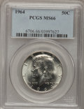 Kennedy Half Dollars: , 1964 50C MS66 PCGS. PCGS Population (906/31). NGC Census:(251/873). Mintage: 273,300,000. Numismedia Wsl. Price forproble...