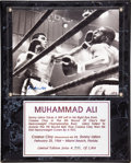 Boxing Collectibles:Autographs, Muhammad Ali Signed Photograph Plaque....