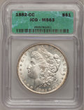 1882-CC $1 MS63 ICG. NGC Census: (2991/7329). PCGS Population (6691/15105). Mintage: 1,133,000. Numismedia Wsl. Price fo...