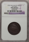 1787 COPPER New Jersey Copper, Small Planchet, Plain Shield--Corrosion--NGC Details. F. NGC Census: (3/65). PCGS Populat...