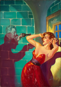 HAROLD W. MCCAULEY (American, 1913-1977) The Ghost That Haunted Hitler, Fantastic Adventures pulp cover