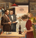 Paintings, DOUGLASS CROCKWELL (American, 1904-1968). Showing Off the Latest Project, U.S. Brewers Foundation advertisement, 1954. O...
