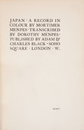 Books:Children's Books, Dorothy Menpes. Japan: A Record in Colour. London: A. and C. Black, 1903. Third edition. Octavo. 206 pages. Publ...