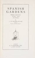 Books:Natural History Books & Prints, C. M. Villiers-Stuart. Spanish Gardens: Their History, Types and Features. London: B. T. Batsford, Ltd., [1929]....