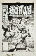 Original Comic Art:Covers, John Buscema Conan the Barbarian #181 Cover Original Art(Marvel, 1986)....