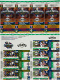 Baseball Collectibles:Tickets, Barry Bonds and Pacific Bell Park Opening Day Lot....