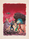 Original Comic Art:Covers, Space Family Robinson Lost in Space #43 Tim and Tam PaintedCover Original Art (Gold Key, 1975)....