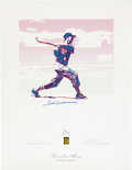 Baseball Collectibles:Others, Ted Williams Signed Serigraph by Carlos Beninati....