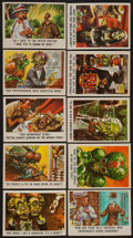 Non-Sport Cards:Sets, 1959 Bubbles, Inc. (Topps) Funny Monsters/You'll Die Laughing Complete Set (66)....