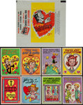 Non-Sport Cards:Sets, 1959 Topps Funny Valentines (Series I) Complete Set (66) PlusWrapper. ...
