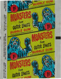 Non-Sport Cards:Sets, Scarce 1964 Bubbles, Inc. (Topps) Outer Limits One-cent Wrapper....