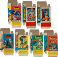 Non-Sport Cards:Sets, Rare 1960's Batman Candy Boxes (7 pieces) Collection....