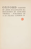 Books:Children's Books, Edward Thomas. Oxford. London: A. & C. Black, [1903].First edition. Octavo. 214 pages. Color plates by John Fulleyl...