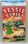 Golden Age (1938-1955):Humor, Tessie the Typist #1 (Timely, 1944) CGC NM+ 9.6 Off-white to white pages....