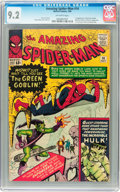 Silver Age (1956-1969):Superhero, The Amazing Spider-Man #14 (Marvel, 1964) CGC NM- 9.2 Off-whitepages....