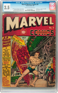Marvel Mystery Comics #9 (Timely, 1940) CGC GD+ 2.5 Cream to off-white pages
