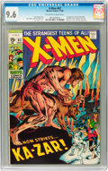 Silver Age (1956-1969):Superhero, X-Men #62 (Marvel, 1969) CGC NM+ 9.6 Off-white to white pages....