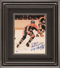 Hockey Collectibles:Photos, Wayne Gretzky Signed Photograph....